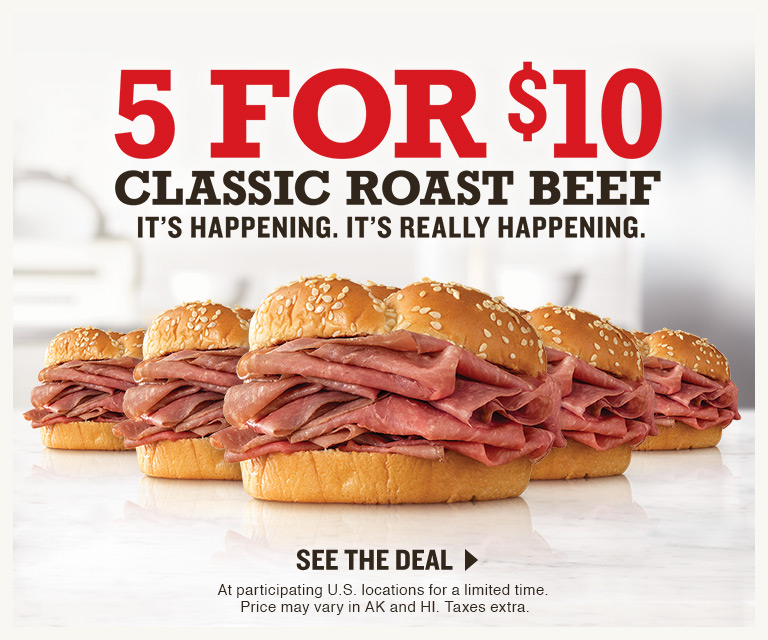 5 for $10 Classic Roast Beef