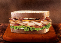 Roast Turkey Ranch & Bacon Sandwich