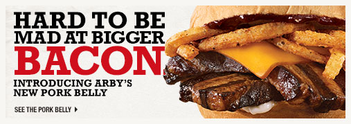 Hard To Be Mad At Bigger Bacon - Introducing Arby's new Pork Belly Sandwich