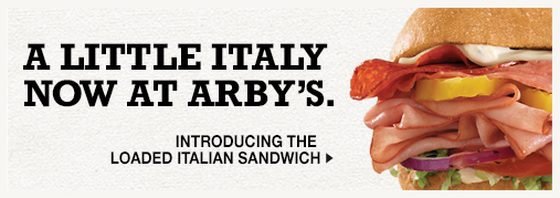 A Little Italy Now At Arby's -