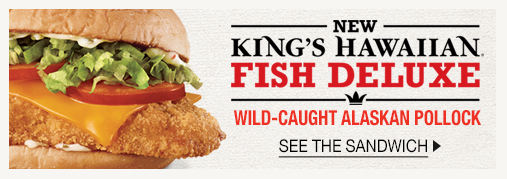 King's Hawaiian® Fish Deluxe - Kings Hawaiian® Fish Deluxe, wild caught alaskan pollock