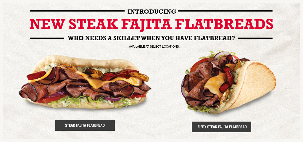 New Steak Fajita Flatbreads